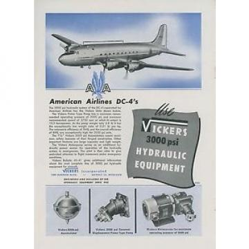 1946 Honduras  Vickers Aviation Hydraulic Ad American Airlines Douglas DC-4 Airplane