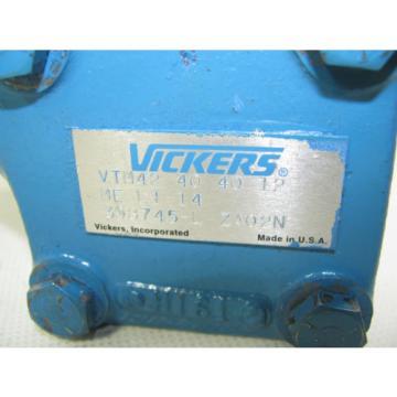 Vickers Netheriands Eaton 398745-L Hydraulic Vane Pump VTM42 40 40 12 ME L1 14 Rebuilt
