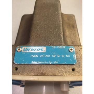 Origin Bulgaria  VICKERS CVCS-25-AD1-S2-M-10-NC HYDRAULIC VALVE CARTRIDGE FLOW CONTROL