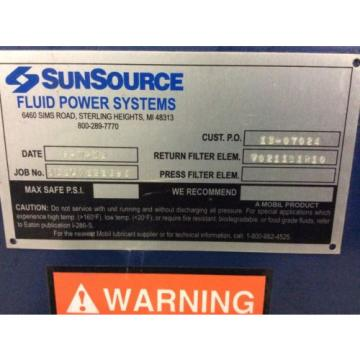 SunSource Samoa Western  Fluid Power Systems Hydraulic System, Vickers PVQ32 pump, 90gal Tank
