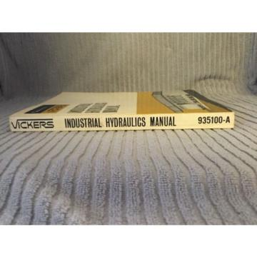 Industrial Rep.  Hydraulics Manual Sperry Rand Vickers 935100-A 1970 First Edition