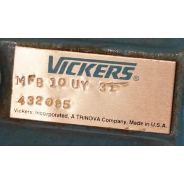 Origin Fiji VICKERS MFB10UY31 HYDRAULIC PUMP 432035