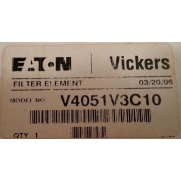 VICKERS Liberia  Filters Eaton HYDRAULIC FILTER ELEMENT V4051V3C10  NOS