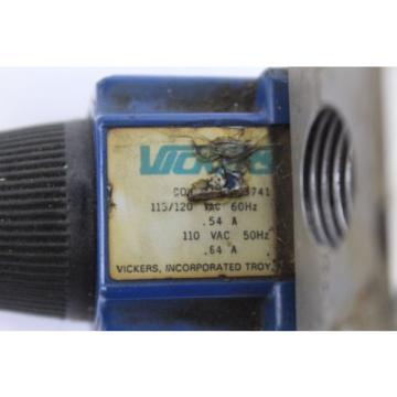Vickers Egypt DG4V-3-2A-MPA3-WLB-40 Hydraulic Valve used B252