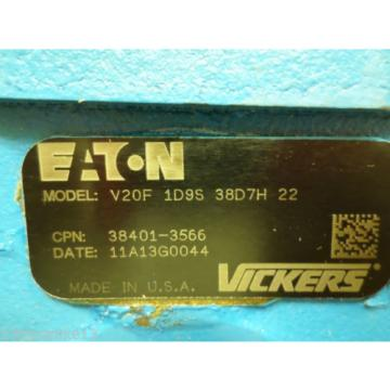Origin Russia  EATON VICKERS V20F-1D9S 38D7H 22 POWER STEERING / HYDRAULIC PUMP