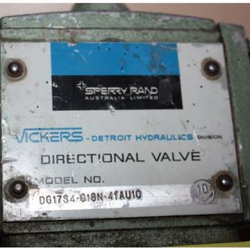Vickers Liberia  Hydraulic Directional Valve DG17S4018N41AU10 aeroquip 5653-10 connect