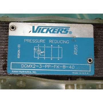 Vickers, Luxembourg  DGMX2-3-PP-FK-B-40, Hydraulic Reducing Valve Keyed Lock Lockable Origin