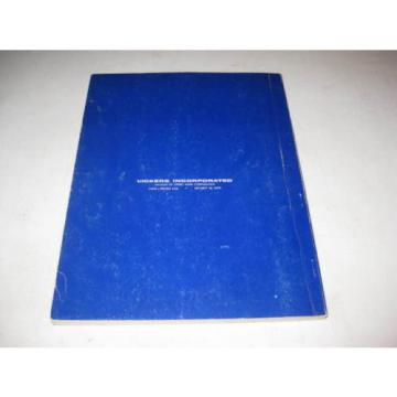 1960 Fiji  VICKERS Machinery Division INDUSTRIAL HYDRAULICS MANUAL 935100