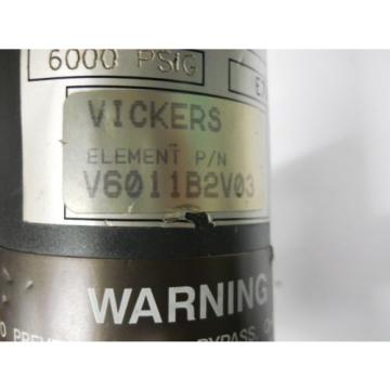 VICKERS Oman  H6101A4 1B2 HYDRAULIC FILTER HOUSING ASSEMBLY 6000 PSI Origin NO BOX