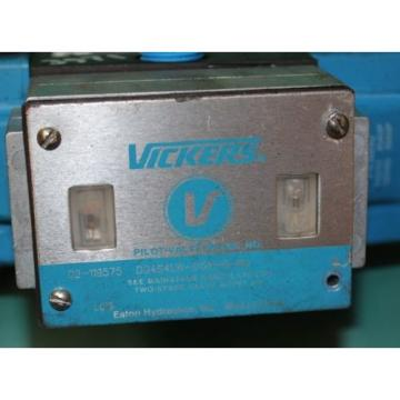 Vickers, Brazil  DG4S4LW-012N-B-60,  02-119575, Pilot Reversible Hydraulic Directional C