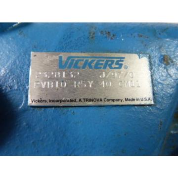 Vickers Niger PVB10RSY40-CM11 Hydraulic Variable Displacement Piston Pump  USED