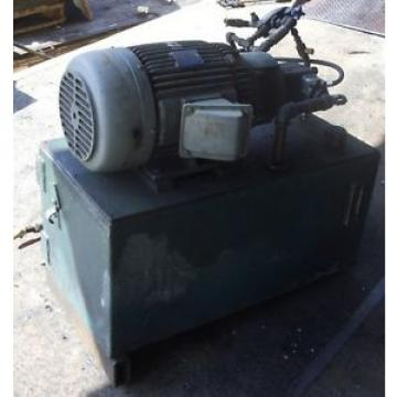 Vickers Suriname Pump 25V12A-1C 10-13056 Gallon Hydraulic Package 15 HP 1760 RPM Motor