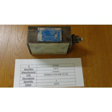 Vickers Solomon Is  DGMX2-5-PA-BW-5S-30 Hydraulic Valve PT102