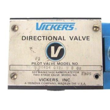 VICKERS Haiti  DG4S4-012A-U-B-60 DIRECTIONAL VALVE 879279 W/ 879141 COIL