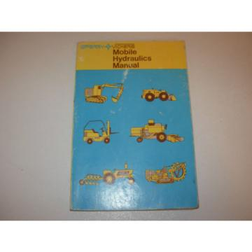 Vickers Reunion Mobile Equipment Hydraulics Manual , 1st Edition , issued 1697