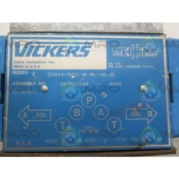 VICKERS Netheriands  DG4V4-012C-M-WL-H5-10 VALVE USED