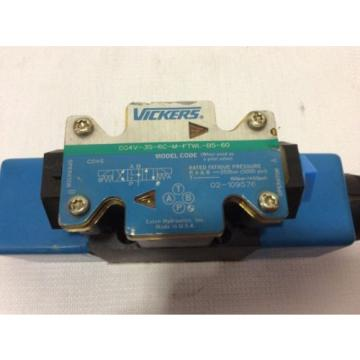 VICKERS United States of America  DG4V-3S-6C-M-FTWL-B5-60 Directional Valve With 02-101731 Coils 120V