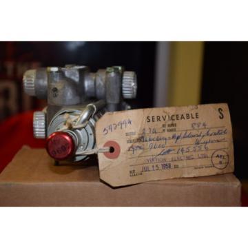 Vintage Andorra Aircraft Part - Weston Hydraulic Solenoid Control Valve