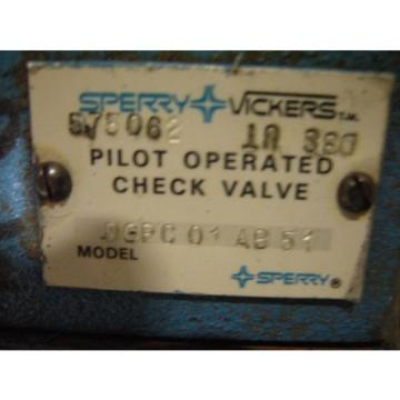 Vickers Andorra  DGPC-01-AB-51 Pilot Operated Check Valve