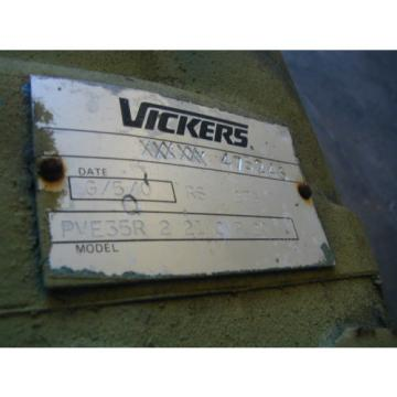 PVE35R Bulgaria 2 21 CVP 20 Vickers Hydraulic Pump with a 40 hp Motor