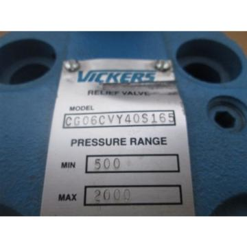 Vickers Malta CG06CVY40S165 Hydraulic Relief Valve