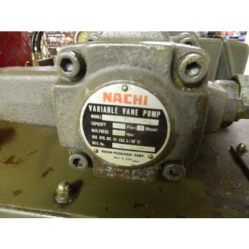 Nachi Saudi Arabia  2 HP Hydraulic Unit, Nachi Vane Pump VDR-1B-1A2-U21, Used, Warranty