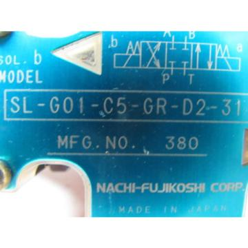 Nachi Guatemala  SL-G01-C5-R-D2-31 Hydraulic Solenoid Directional Control Valve Wet Type