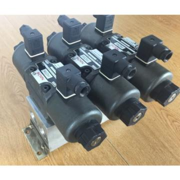Lot Turkey  of 3 Nachi SA-G03-C6-D1- E21 Hydraulic Valve with Double Solenoid