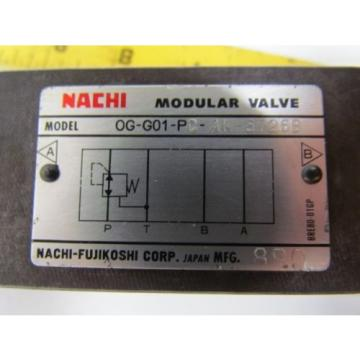 Nachi Romania  0G-G01-PC-AK-5726B Hydraulic Pressure Reducing Modular Valve