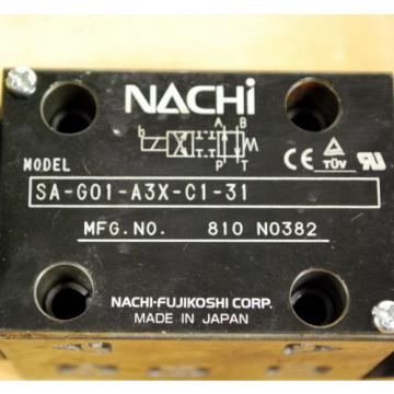Nachi Macao SA-G01-A3X-C1-31 Hydraulic Directional Control Valve With B12GDM Solenoid