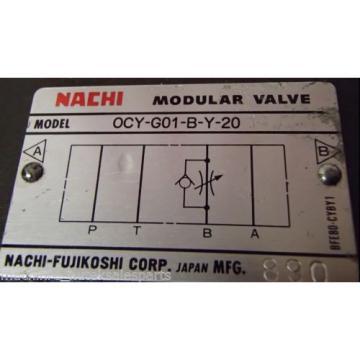 NACHI Portugal Modular Valve OCY-G01-B-Y-20 _ OCYG01BY20
