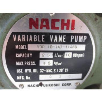 NACHI Tonga  VARIABLE VANE PUMP VDR-1B-1A3-1146G