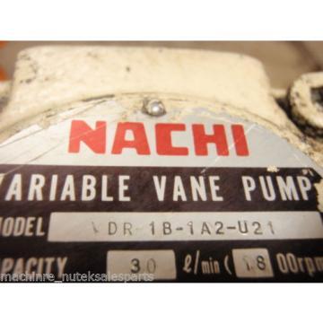 Nachi French Varible Vane Pump VDR-1B-1A2-U21_VDR1B1A2U21 w/Motor_LT1570-NR_LTIS70-NR