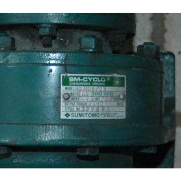 SUMITOMO 043HP SM-CYCLO  HC 3105/08 Gear Speed Reducer 165: 1 Ratio, 1750 RPM