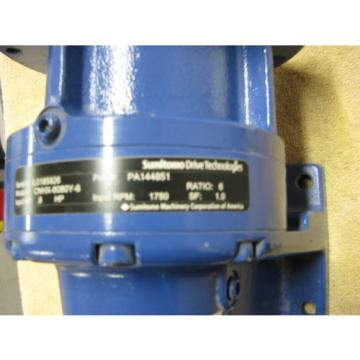 SUMITOMO SM-CYCLO DRIVE TECHNOLOGIES GEAR SPEED REDUCER RATIO 6:1 INPUT HP 8