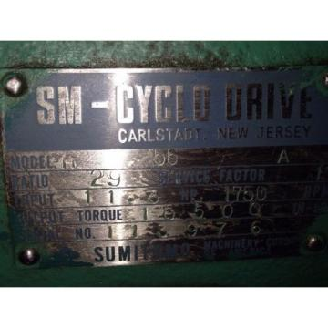 Sumitomo H56A SM-CYCLO Planetary Gear Drive/Gearbox/Speed Reducer