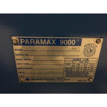 SUMITOMO PARAMAX PVD9090Z3A-RR-25685 SPEED REDUCER,GEAR BOX,GEAR REDUCTION