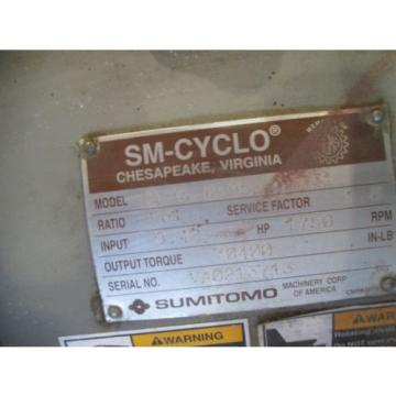 Sumitomo sm cycle speed reducer 6195D - 231-1