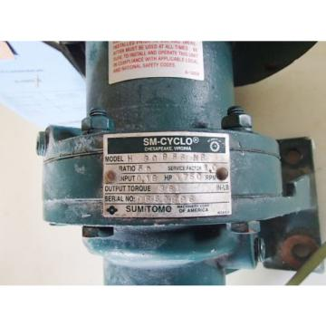 SUMITOMO H-30855-HS SM-CYCLO GEAR REDUCER, RATIO 59, 1750 RPM Origin