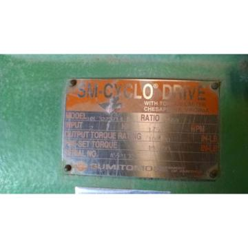Origin SURPLUS SUMITOMO HM 3225/14 TL CONCENTRIC REDUCER, 7569 RATIO, 2HP 1800RPM