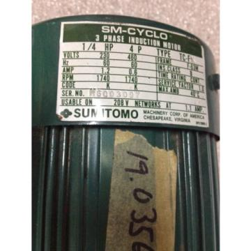 T-TOP SUMITOMO M6003097 3 PHASE INDUCTION MOTOR