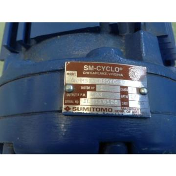Origin CNHMS1-6095YC-17 Sumitomo Sm-cyclo 6000 1HP Induction Motor TC-FX,ground3