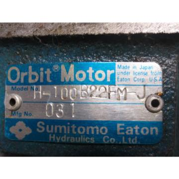 SUMITOMO EATON ORBIT MOTOR H-100B22FM-J LISTING FOR EACH