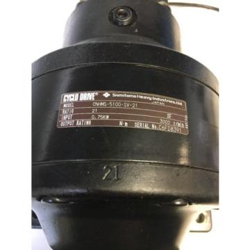 Sumitomo Heavy Industries Cyclo Drive CNHMS-5100-SV-21 Fast Shipping Warranty