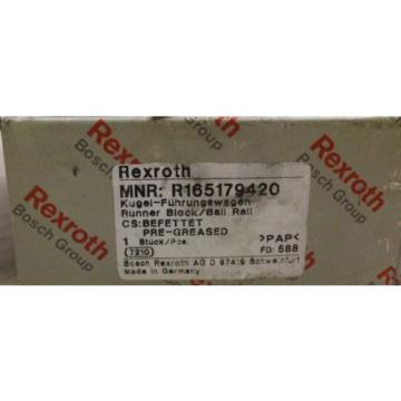 Rexroth linear bearing R165179420 origin
