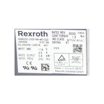 REXROTH MSM030C-0300-NN-M0-CG0 295558 SERVO MOTOR