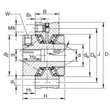INA Original Complex Bearing ZAXFM1255 INA