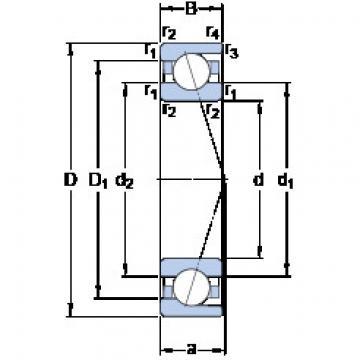 Angular Contact Bearings 71816 CD/P4 SKF