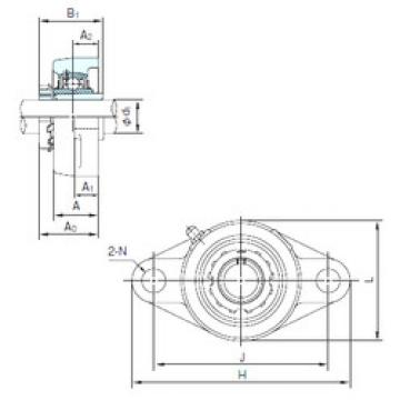 Bearing UKFL307+H2307 NACHI