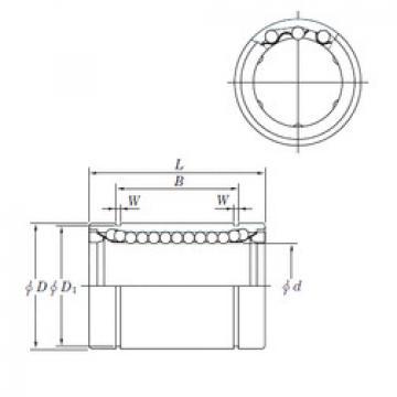 Linear Bearings SESDM50 KOYO